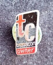 Old Advertising Promotional Pin Pinback TC Transcon Owner Truck Transportation