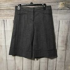 Intuitions Women's Wool Blend Lined, Bermuda Shorts Size 6, MSRP $79