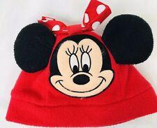 WALT/DISNEY/WORLD~girl's~MINNIE/MOUSE/BOW/RED/FLEECE/HAT! (Infant) Cute!!