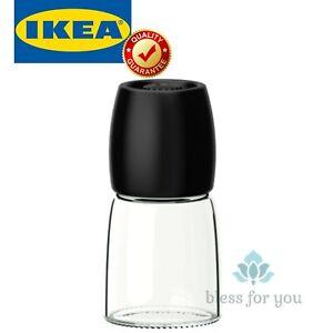 "IKEA 365+ IHARDIG Spice Mill Black Glass 5 """