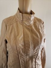 Harper Women's Faux Leather Jacket Blush Pink Size Small Moto