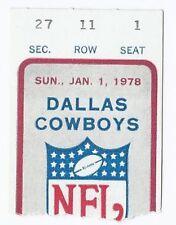 1977 NFC Championship Ticket Stub Vikings @ Cowboys