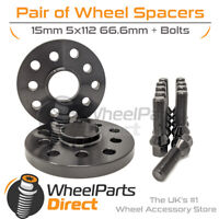Spacers (2) & Bolts 15mm for BMW 3 Series [G21] 18-20 On Aftermarket Wheels