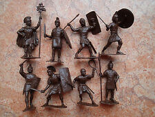 !!! Toy soldiers miniature ROMAN LEGIONARIES set 8 figures Made in Russia 2,5""