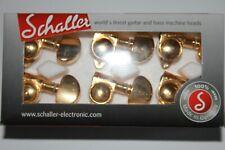 Schaller machine heads top Lock M6 Vintage Mechaniken locking Tuner 3L 3R gold