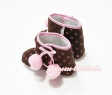 Polka Dots Print with Various Cherry Newborn Baby Infant Crib Shoes Boot 6-24m