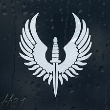 Army Dagger Military Wings Car Decal Vinyl Sticker