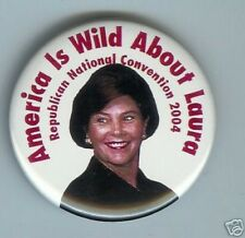 LAURA Bush First Lady 2004 Convention pin George W, CAMPAIGN pinback
