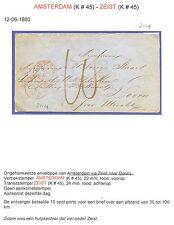 NEDERLAND 1860  ENV. AMSTERDAM = DOORN