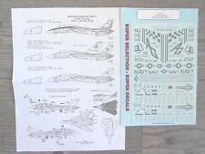 "F-14A TOMCAT ""2USN/VF-211 CHECKERMATES/VF-142 GHOST RIDE"" MICROSCALE DECALS 1/48"