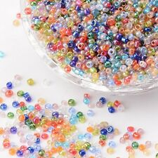 LOT 1000 PERLES DE ROCAILLE MULTICOLORE Ø 2 mm 12/0 CREATION BIJOUX