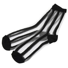 Lady Grid Striped Polka Dot Transparent Ankle Socks Stockings Accessory Fashion