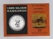 1995 1oz .999 Silver Coin $1 Kangaroo UNC Australia one ounce