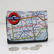 Personalised London Underground Map Wallet Dad Grandad Mens Lads Gift ST358