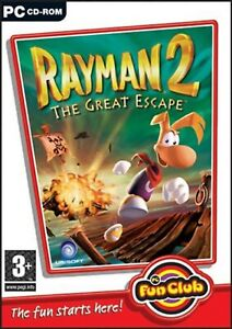 Rayman 2 PC DVD Computer Video Game UK Release Mint Condition