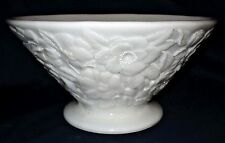 """Vtg/EAPG 9.75""""  PHOENIX CONSOLIDATED Glass Fruit Bowl Rose Chintz Deep Relief"""