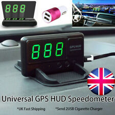 Universal Car GPS Speedometer HUD MPH/KM/h USB Plug&Play Overspeed Warning Alarm