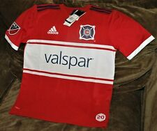 Chicago Fire jersey! YOUTH large New with tags Adidas Climalite authentic MLS