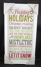 Happy Holidays Silent Night Tis Season Mistletoe Believe Magic Picture Sign #39