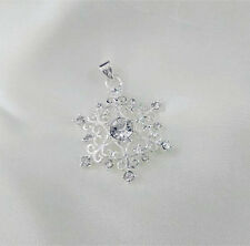 Nice Crystal Snowflake Silver Pendant For Necklace Earrings