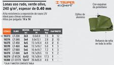 TRUPER LT-46X Canvas heavy use, olive green, 4 X 6 meters, Truper Expert