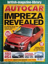 Autocar 26/7/2000 Subaru Impreza AMG Mercedes C32 Subaru Legacy Blitzen