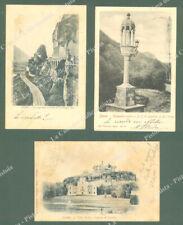 Emilia Romagna. SASSO, Bologna. 3 cartoline d'epoca viaggiate