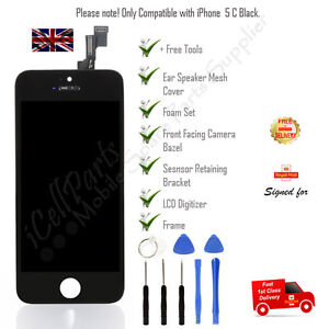 Touch Replacement Display For 5C iPhone Black LCD Screen Digitizer and Tool Kit