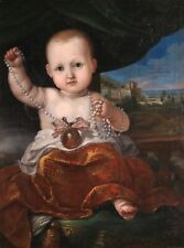16th CENTURY ITALIAN OLD MASTER OIL ON CANVAS - PORTRAIT OF A YOUNG CHILD