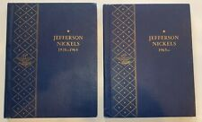 Jefferson Nickel Collection 1938 to 1989 complete set in 2 Whitman Albums