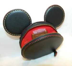COACH Disney X MICKEY LEATHER minnie EAR COIN CASE WALLET 59071 BLACK NEW w/tags