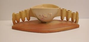 Vintage Roseville Ixia Yellow Pottery Centerpiece Candleholder 328 -11 1937 Rare