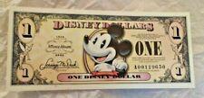 2008 A $1 Disney Dollar 80th Anniversary Disneyland A Series Pie Eye Mickey  UNC