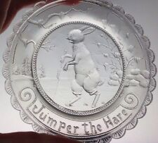 Jumper the Hare Thornton Burgess Pairpoint Glass Cup Plate Snowshoe Sandwich MA