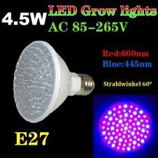 4.5 Watt 80 LED Grow indoor 60 ° Piante Lampada gravitazionali è cresciuto fioritura 4.5w e27