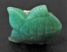 One Pair of Alfred Dunhill Carved Green Jade Fish Cufflinks Pisces £450