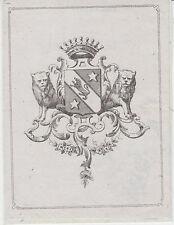 Ex-libris René de BEAUFORT (1817-1879) Frampas (Haute-Marne) - Nancy