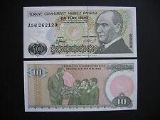 TURKEY  10 Lira 1970 (1979)  (P192)  UNC