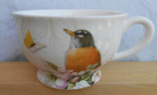 Marjolein Bastin Nature'S Journey Coffee Cup Mug Robin Butterfly 16 Oz Tag 2009
