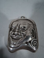 Gorham Match Safe - Antique Exotic Japanese Oni - American Sterling Silver
