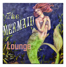 "11 3/4""h LED The Mermaid Lounge Wall Mount Canvas Hanging Artwork Light Up Sign"
