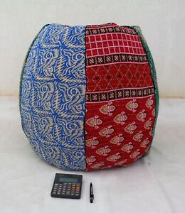 Handmade vintage Cotton Floral Bohemian Home & Living Bean Bag Chairs BD53