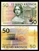 SWEDEN 50 KRONER 2003 P 62 UNC