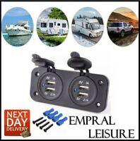 12v Double USB Socket Dual Charger Camper Van Motorhome VW Caravan usb Charging