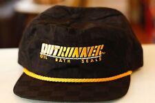 Rare Vtg Out Runner Oil Bath Seals Ropebill Trucker Strapback Hat Cap