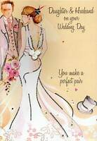 Daughter & Husband Wedding Day Card Water Colours By Second Nature
