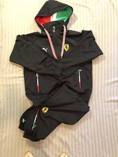 Puma Ferrari Italy Authentic Mens Tracksuit Jacket Windbreaker dark blue XL, L