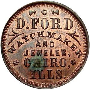 Cairo Illinois Civil War Token D Ford Watch Maker R9