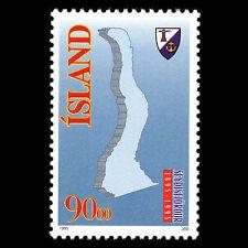 Iceland 1995 - 100th Anniv of Seydisfjordur Map - Sc 794 MNH