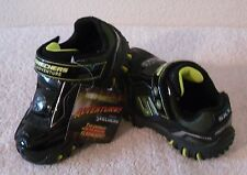 NEW Skechers Hot Lights Damager Adventurer Infant Boys Shoes 7 Black MSRP$60